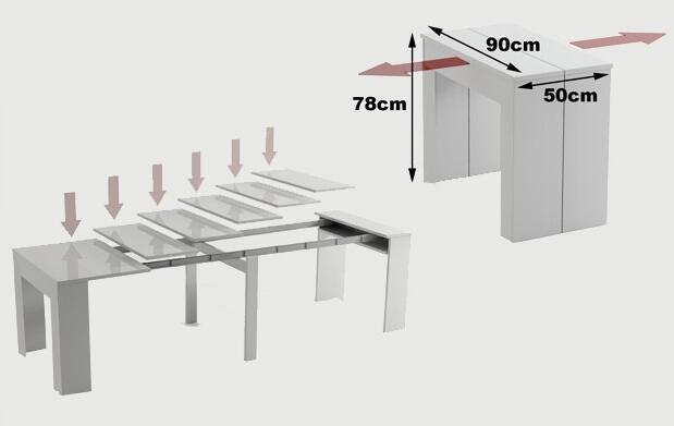 Consola o mesa, hasta 10 en un mueble 139€