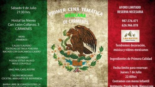 Cena temática mexicana para 2 por 36 €