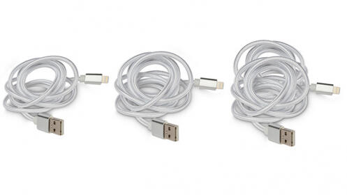 Pack de 3 cables lightning para iPhone