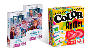 Juego de cartas Frozen II Figurines + Color Addict