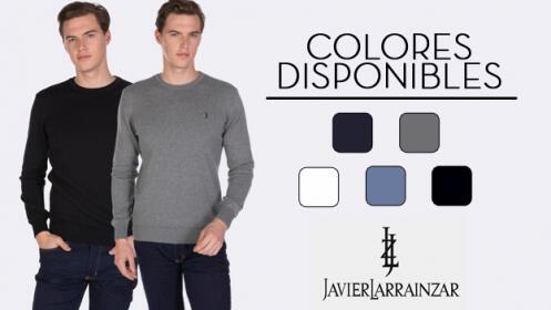 Jerseys Javier Larrainzar de cuello redondo 100% algodón