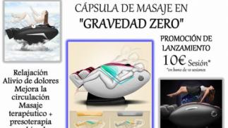 """CÁPSULA DE MASAJE EN """"GRAVEDAD ZERO"""""""