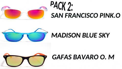 Pack de 3 gafas de sol UV400