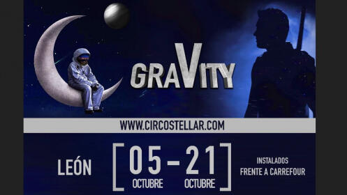 """Entrada al espectáculo """"Gravity"""" del Circo Stellar del 5 al 21 de octubre en León"""