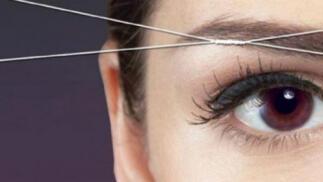Diseño y depilación de cejas con hilo por 9,90 €