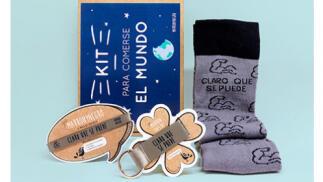 Pack Calcetines + Pulsera + Llavero Marronynegro por 13,95 €