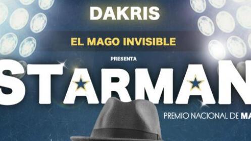 Entrada para el espectáculo de magia STARMAN del mago DAKRIS por 18,50 €