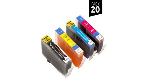 Pack 10 o 20 cartuchos compatibles HP 364XL
