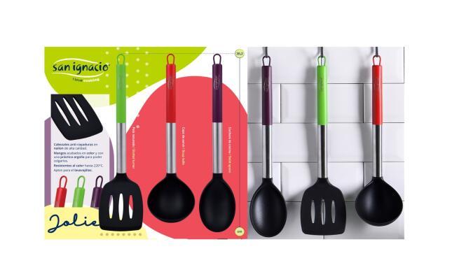 Set 3 sartenes antiadherentes + 3 tupper herméticos + 4 utensilios San Ignacio
