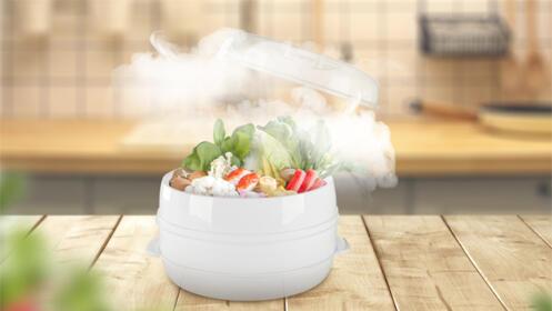 Cocina al vapor para microondas